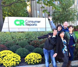 A lighter moment at then end of a long, but amazing day at Consumer Reports.